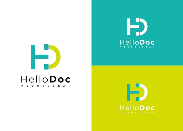 Hello doc medical logo online, creative logo for reference your business