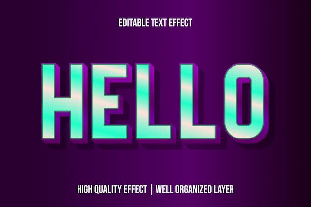 안녕하세요, 편집 가능한 최신 텍스트 효과 글꼴 스타일