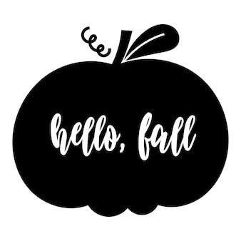 Hello, fall - thanksgiving template design. vector illustration.
