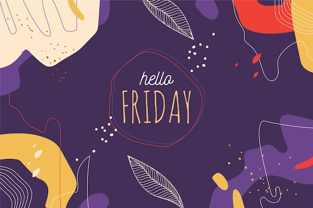 Hello friday abstract background