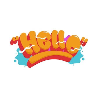 Hello graffiti font header