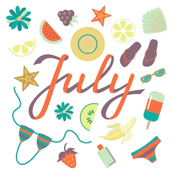 Hello july background