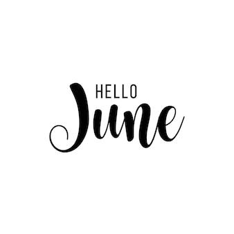 Hello june vector template design illustration
