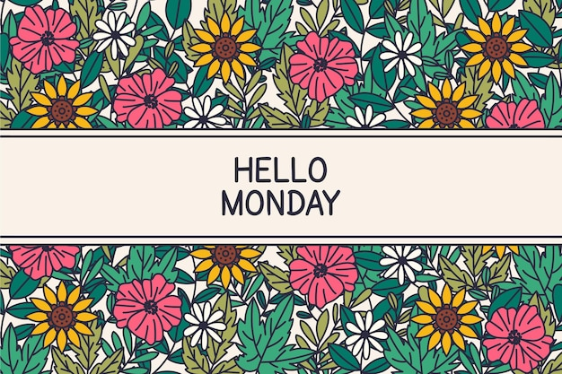 Hello monday - background