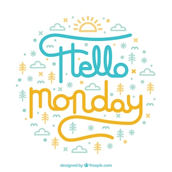 안녕하세요 월요일, 좋은 구성