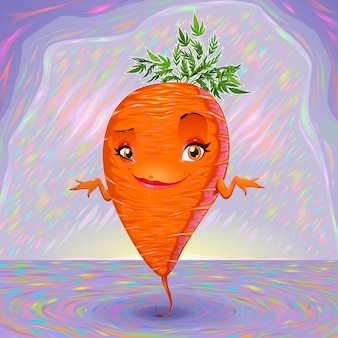 Hello my name is carrot vector cartoon illustration