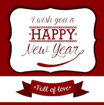 Hello new year design