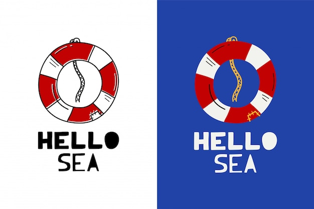 Hello sea label