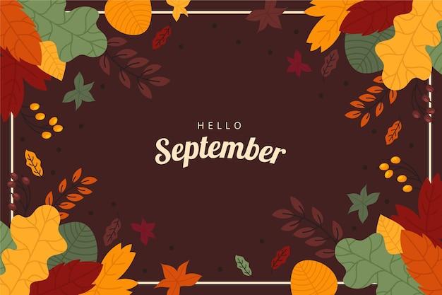 Ciao settembre sfondo