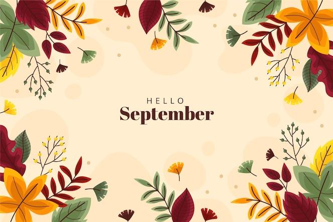 こんにちは9月の背景