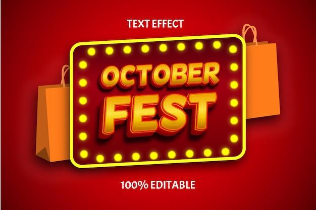안녕하세요 9월 색상 오렌지 브라운 편집 가능한 텍스트 효과 프리미엄 벡터
