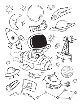 Hello space doodle