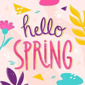 Hello spring background concept