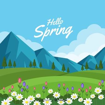 안녕하세요 봄 배경