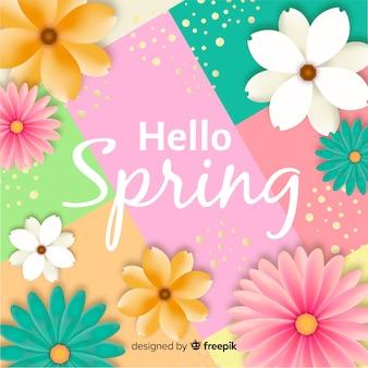Привет весенний фон