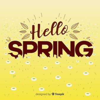 Hello spring background