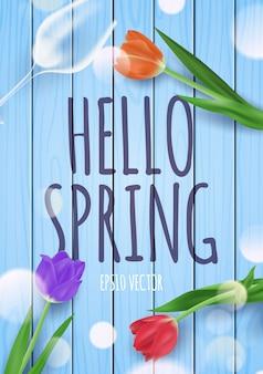 Hello spring greeting  illustration