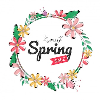 Hello spring sale template