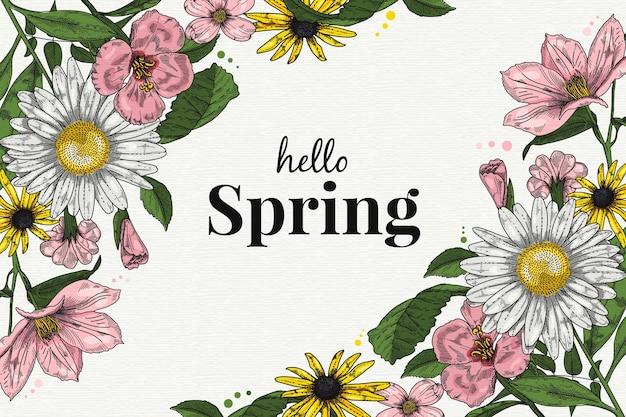 Hello spring wallpaper concept