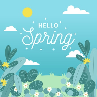 안녕하세요 봄 벽지