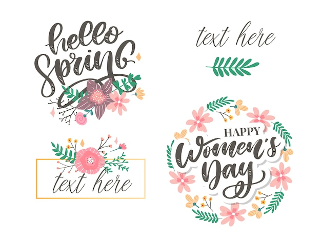 Hello spring and women's day flowers