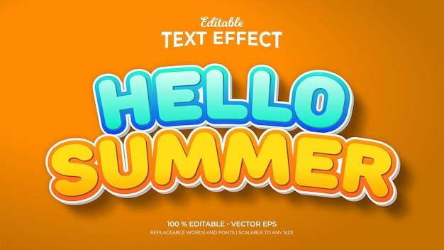 Hello summer 3d style editable text effects