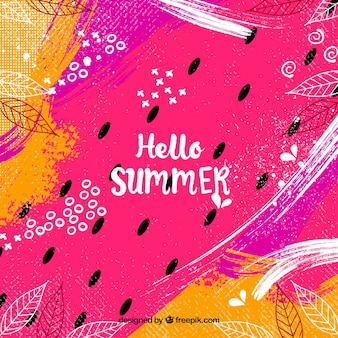 Hello summer background in abstract style