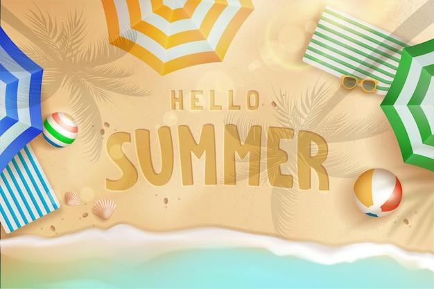 Здравствуйте, лето фон концепция