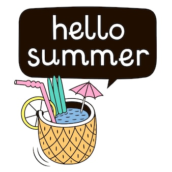 Hello summer background design