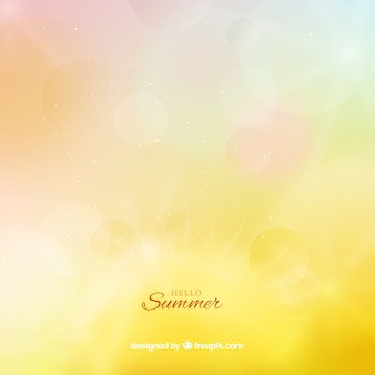 Hello summer background with blurred style