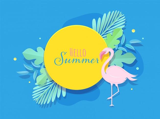 Hello summer background.
