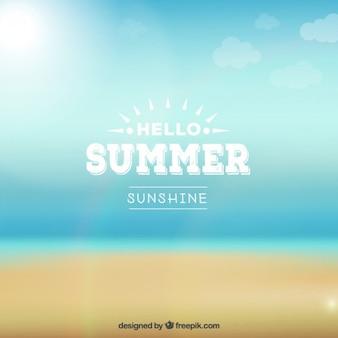 Ciao estate sfondo