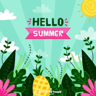 Hello summer background