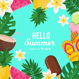Hello summer background