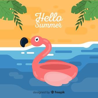안녕하세요 여름 배경