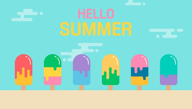 ハロー夏の背景