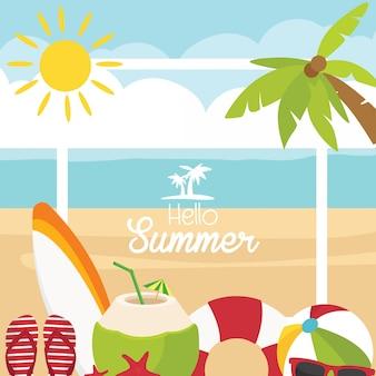 Hello summer beach accessories