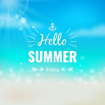Hello summer blurred wallpaper