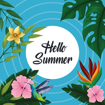 Hello summer card card