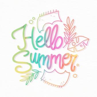 Ciao estate lettere colorate