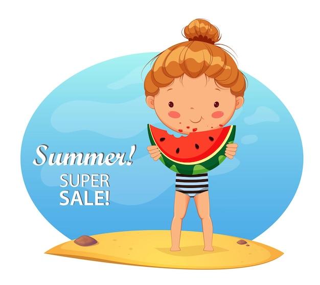 Привет летняя концепция летняя распродажа