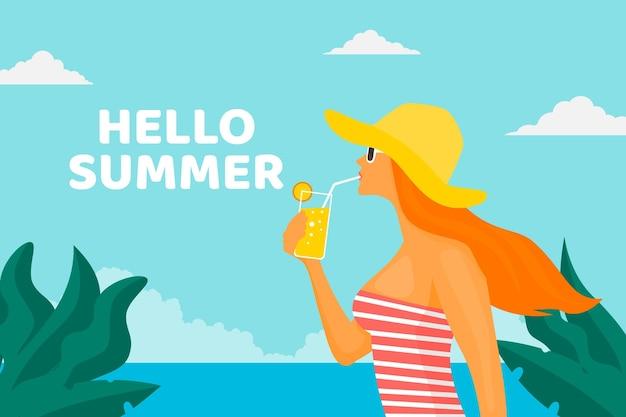 Привет летняя концепция