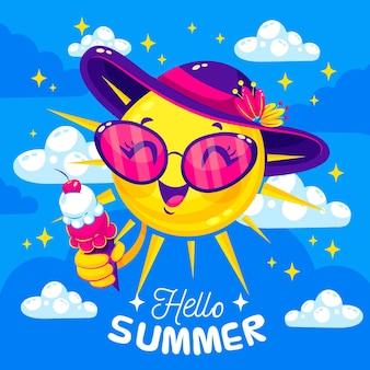 Hello summer concept