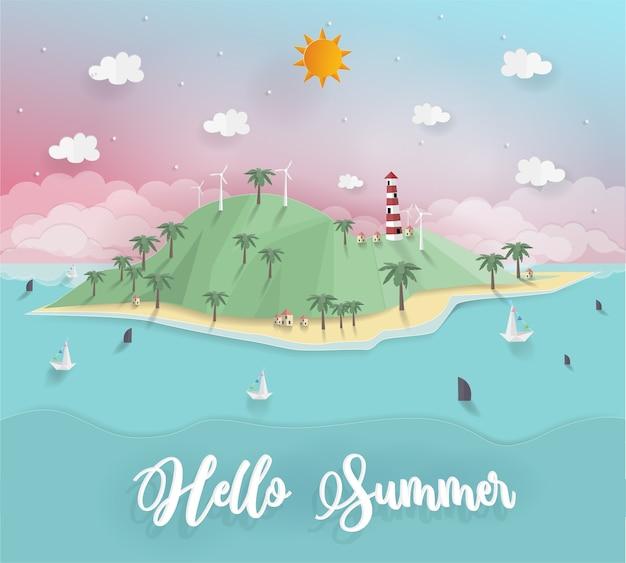 Концепция приветствия летом