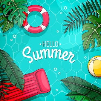 Hello summer design with pool