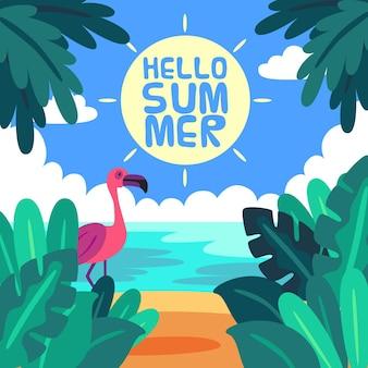 こんにちは夏のデザイン