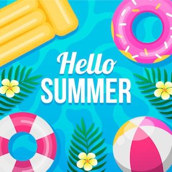 Ciao estate in design piatto