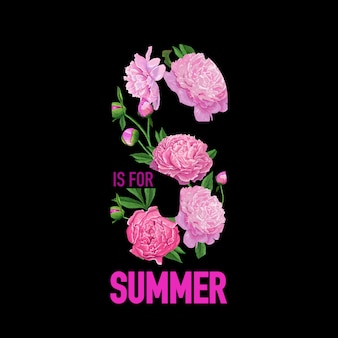 Hello summer floral design peony flowers
