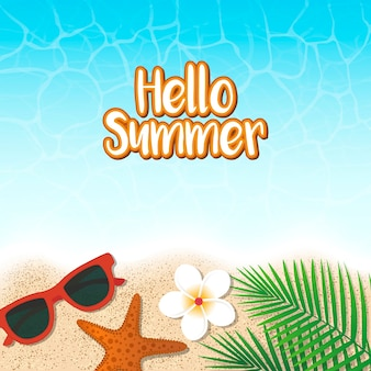 Hello summer holiday background. season vacation, weekend