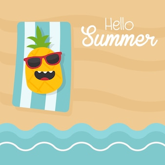 Hello summer illustration